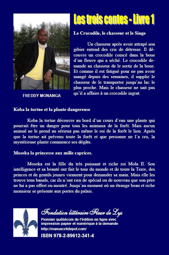 Les Trois Contes Livre I Freddy N Monanga Fondation Litteraire Fleur De Lys